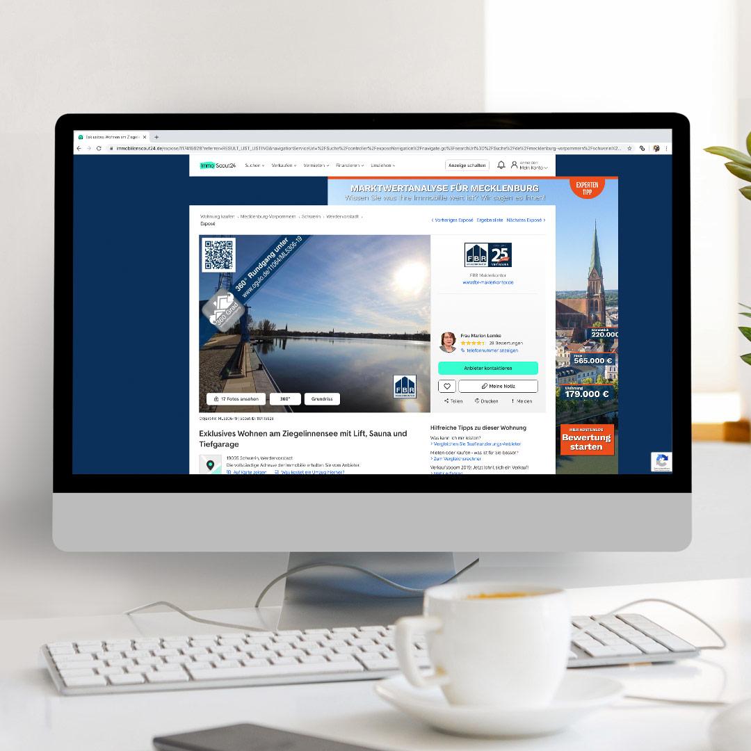 Immoscout24 auf Desktop