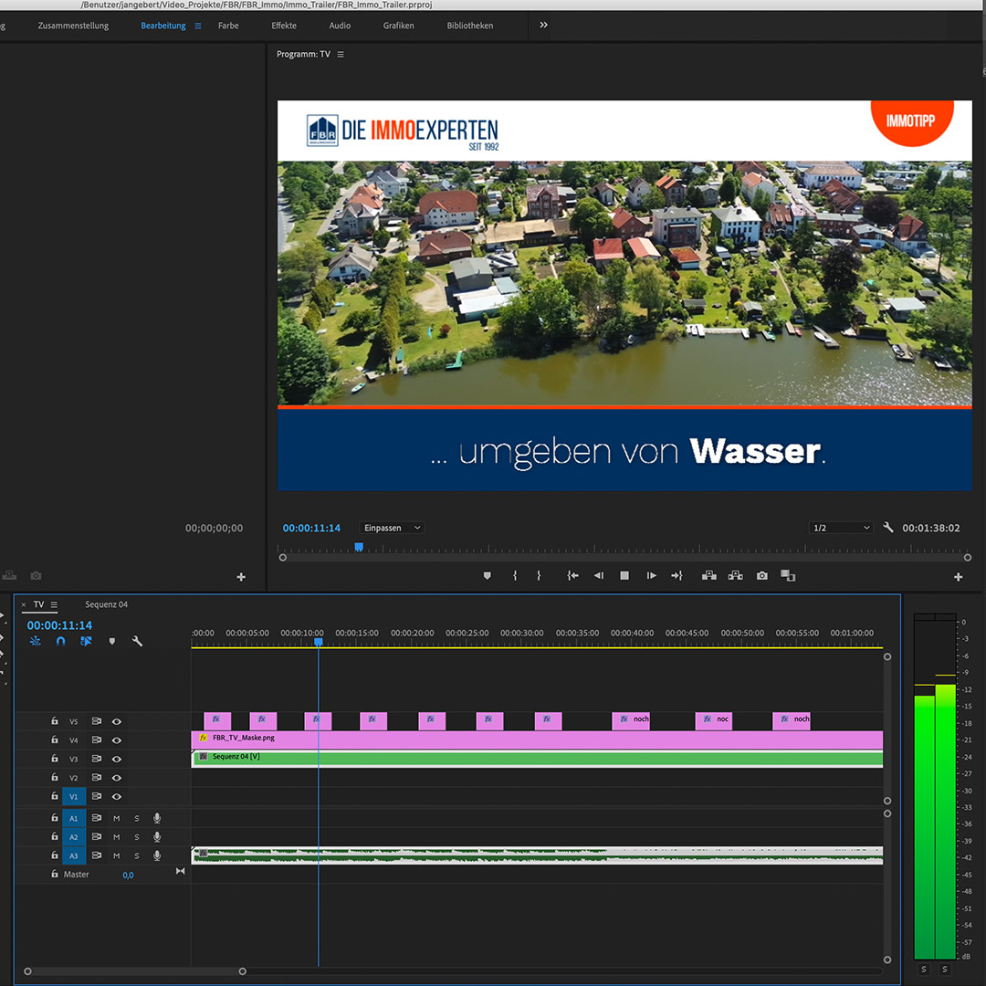 Screenshot Videobearbeitung